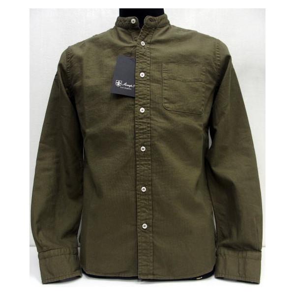 Sweep!!(スウィープ)[Panama Shirts/Solid-Kahki]バンドカラー/パナマ織り/無地/カーキ/長袖シャツ!
