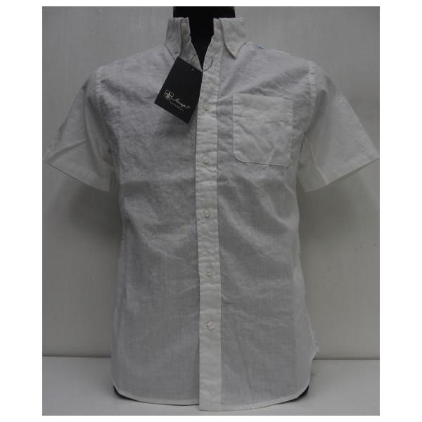 Sweep!!(スウィープ)[Cotton Linen Short Sleeve Button Down Shirts]コットンリネン/ショートスリーブ/ボタンダウンシャツ/無地/ホワイト/半袖シャツ!