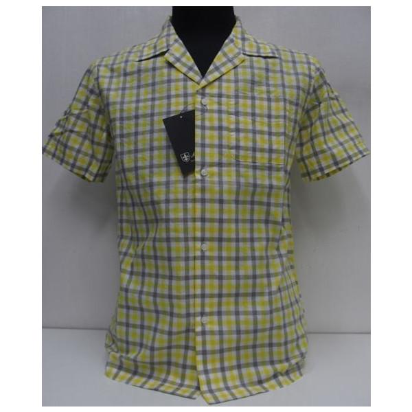 Sweep!!(スウィープ)[Gingham Check Oxford Open Shirts/Short Sleeve]オープンカラー/コットン/ショートスリーブ/ワークシャツ/チェック/イエロー/半袖シャツ!