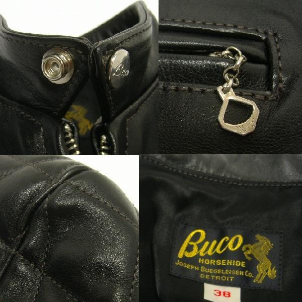 THE REAL McCOY'S(这种真实麦科伊)BUCO(buko)[J-100 JACKET/PADDED]皮夹克/骑手茄克/padeddo!