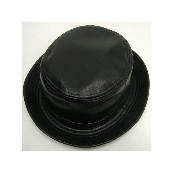 JOE McCOY(乔麦科伊)by THE REAL McCOY'S[LEATHER PORKPIE HAT]猪肉派帽子/帽子/帽子!