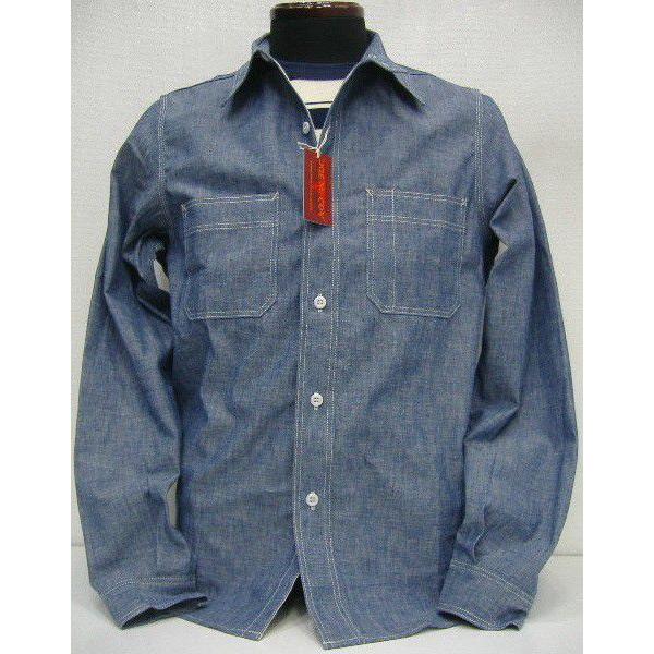 JOE McCOY(乔麦科伊)by THE REAL McCOY'S[8HU CHAMBRAY SERVICEMAN SHIRTS Lot.232s]长袖子衬衫/shambureshatsu!