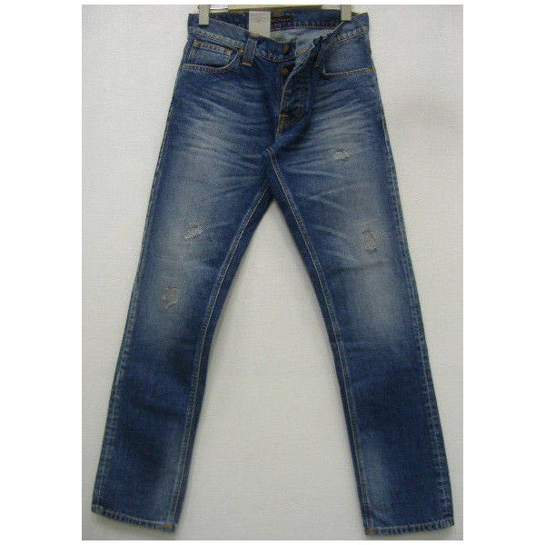 Nudie Jeans(ヌーディージーンズ)[Grim Tim/Mended Denim-220] Made in Tunisia グリムティム/スリムフィット/ボトムス/ジーンズ