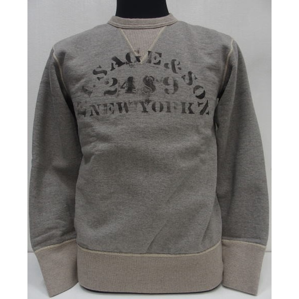 Deluxeware(デラックスウエア)50's Heavy Sweater [Lot.S101-22/Sage&Son]スウェット/クルー/セットインスリーブ/吊り編み/カスタム/日本製!