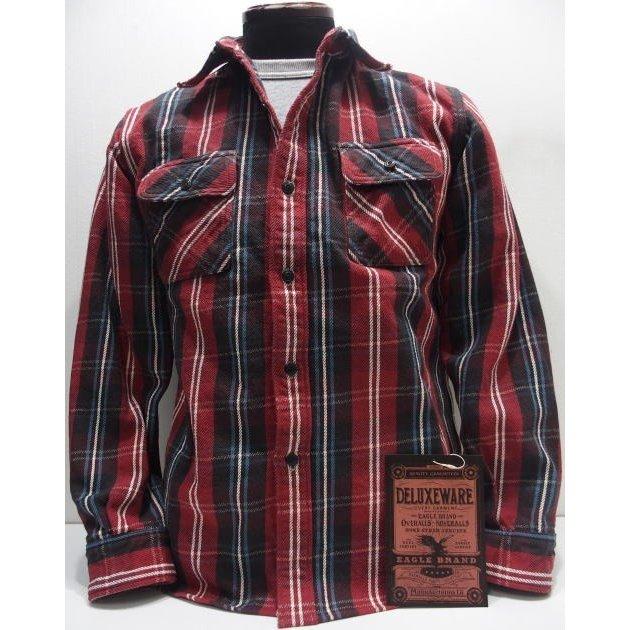 Deluxeware(デラックスウエア)Original Cotton Flannel Shirts [Vintage Check/Lot.HV-33]ヘビーネル ネルシャツ ヴィンテージチェック レッド 日本製!