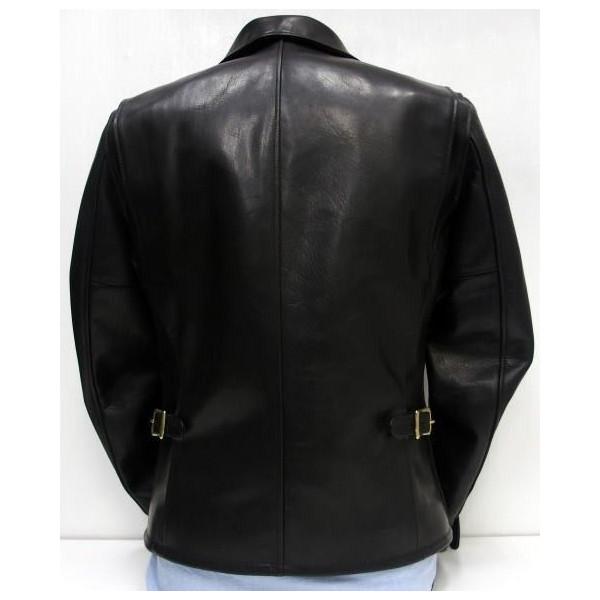 Y ' 2 皮革 (用皮革) [高压马单车手夹克] 马皮和马皮革 / 单雷桑德斯 / 日本制造的 !