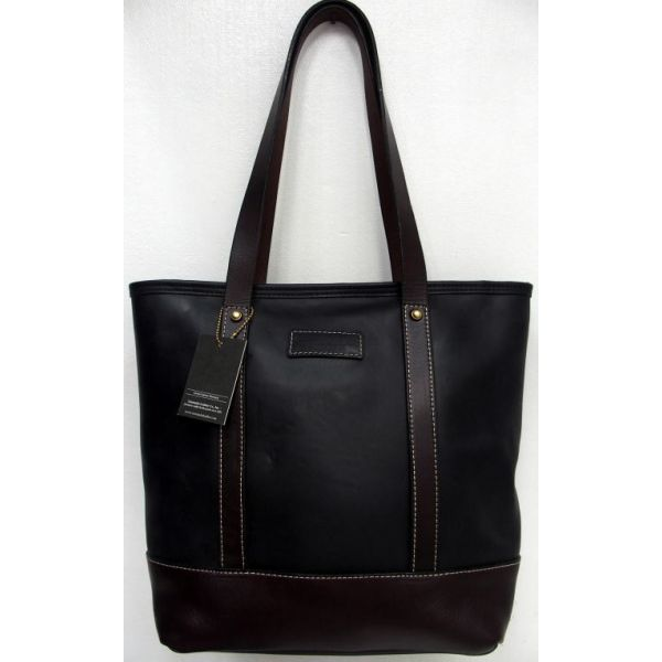 Coronado Leather Chrome Excel Tote Bag 2 Tone Made In U S A 1