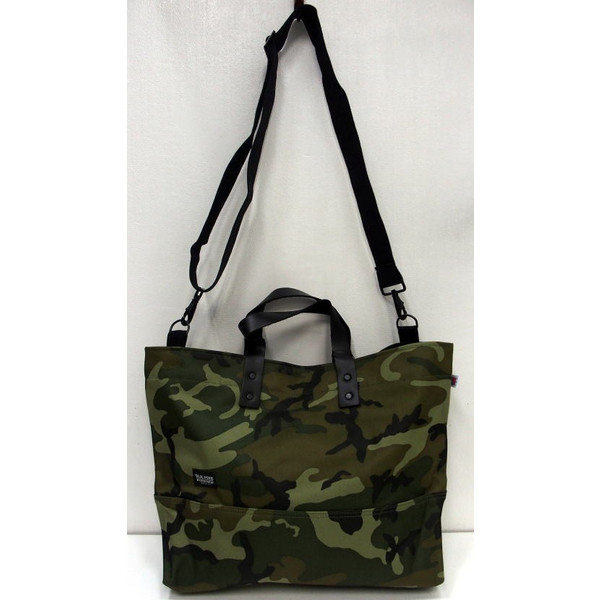 Blk Pine Work Black Paintwork Camouflage Nylon Canvas Tote Bag 2 Way Pattern And Made In U S A