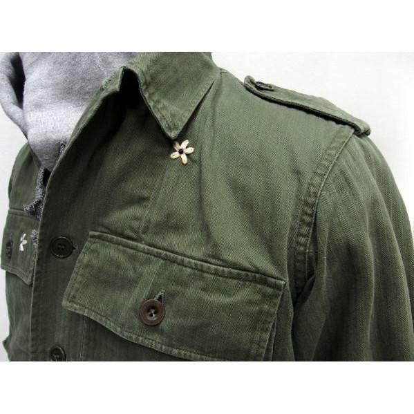 SHANANA MIL(shananamiru)[Vintage 1950's French Army Herringbone Shirts]实用程序衬衫/人字形/花/再作/军事/法国制造!