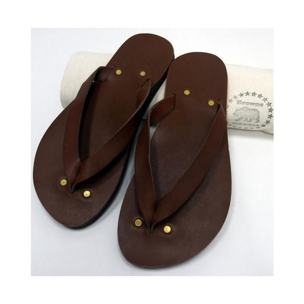 Browns Sandal(ブラウンズサンダル)[Leather Sandal/MALIBU]Made in U.S.A./Brown/革サンダル /レザーサンダル/トングサンダル/ビーチサンダル/アメリカ製!