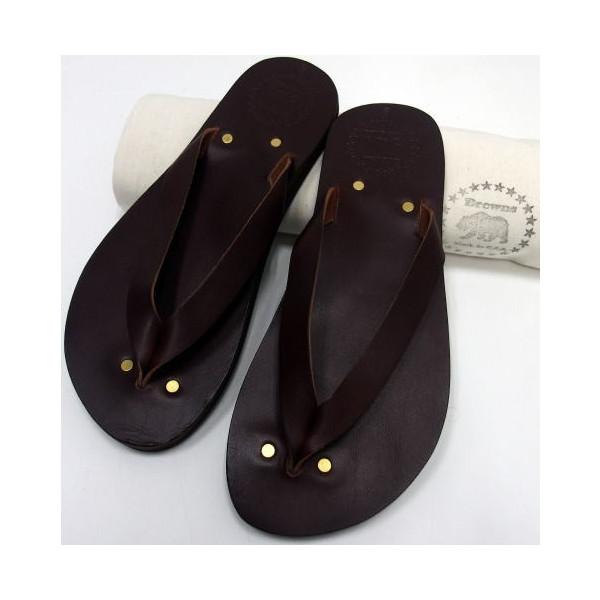 Browns Sandal(ブラウンズサンダル)[Leather Sandal/MALIBU]Made in U.S.A./New Brown/革サンダル /レザーサンダル/トングサンダル/ビーチサンダル/アメリカ製!