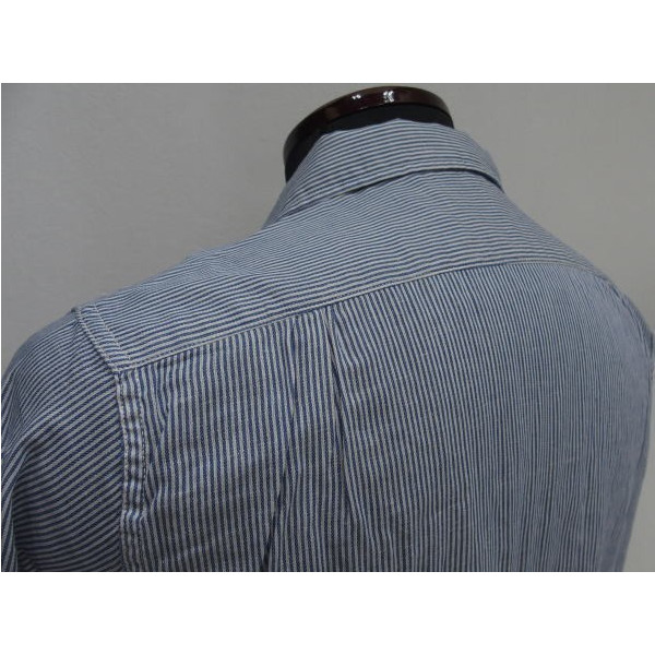 由仓库 twilhiccoli 鸭挖掘机 / 蓝色 / 工作衬衫和开领短袖衬衫 / 日本制造的 !