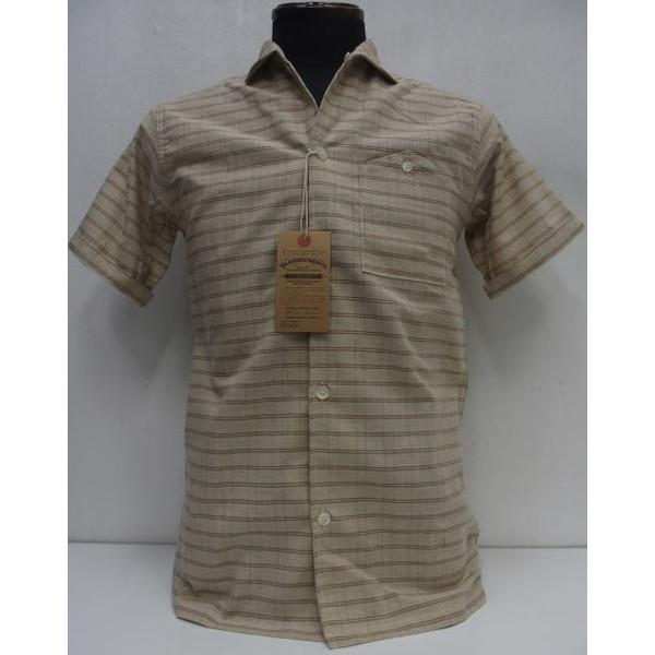 Duck Digger by WAREHOUSE [Open Collar Shirts/Check-Lot.3091]ダックディガー/チェック/ワークシャツ/オープンカラー/半袖シャツ/日本製!