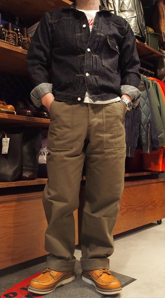 仓库 (仓库) 贝克裤子/裤子/军事裤子和人字形。