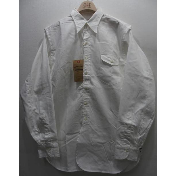 Duck Digger by WAREHOUSE [COAT STYLE SHIRTS/Lot.3021]コートシャツ ワークシャツ ダックディガー 長袖シャツ 無地 ホワイト 日本製!