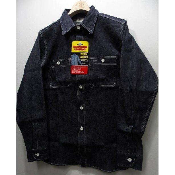 WAREHOUSE(ウエアハウス) [TRIPLE STITCH WORK SHIRTS-Indigo Denim/Lot. 3076]デニムシャツ ワークシャツ 長袖シャツ 日本製!