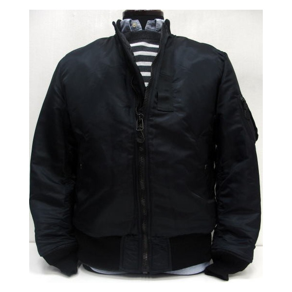 LOSTHILLS(ロストヒルズ)FROM THE GARRET [MA-1 Jacket/J.L.M]Made in Japan/MA-1/ミリタリー/フライトジャケット/アウター/ブラック/日本製!