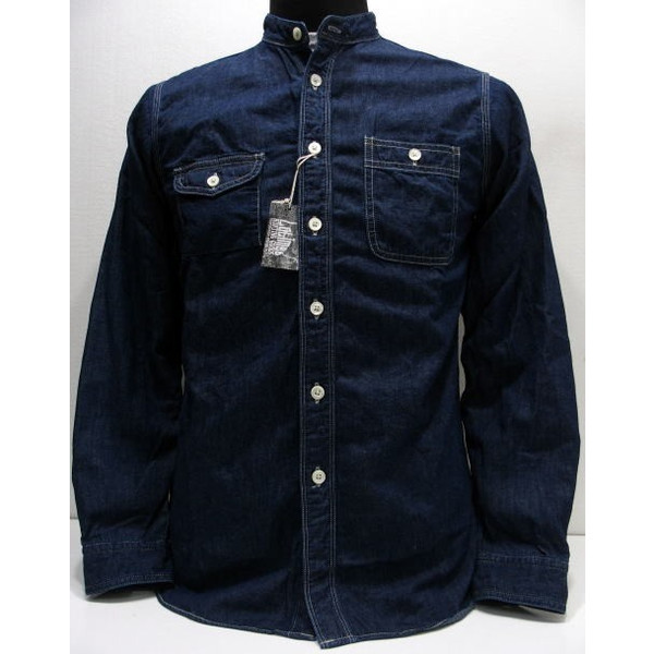 COLIMBO(コリンボ)[Garibaldi Garden Shirt]バンドカラー/スタンドカラー/インディゴ/長袖シャツ/日本製!