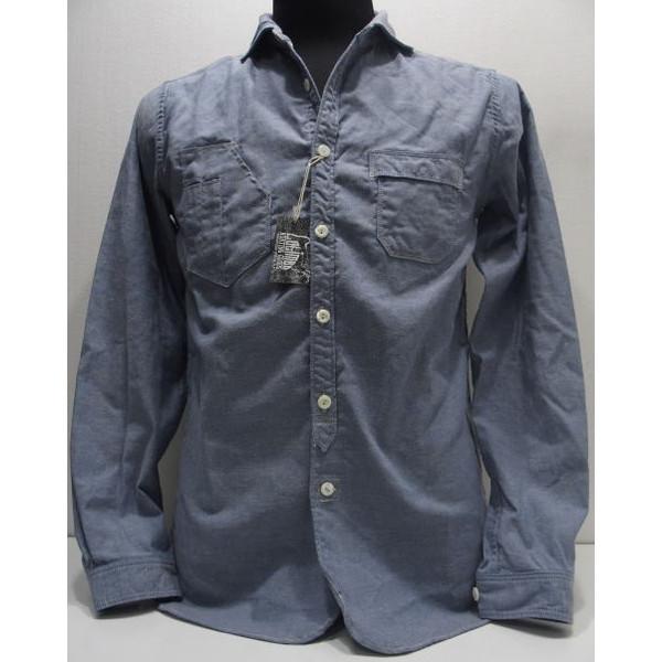 COLIMBO(コリンボ)[Old Wedworth Shirt/Sax Blue]ワイドカラー/イタリアンカラー/シャンブレー/ブルー/長袖シャツ/Made in Japan!