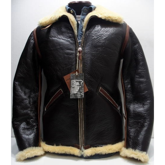 COLIMBO(コリンボ)[B-6 Type Mouton Jacket/Side Zipper Model-Brown]B-6/シープスキン/レザージャケット/アウター日本製!