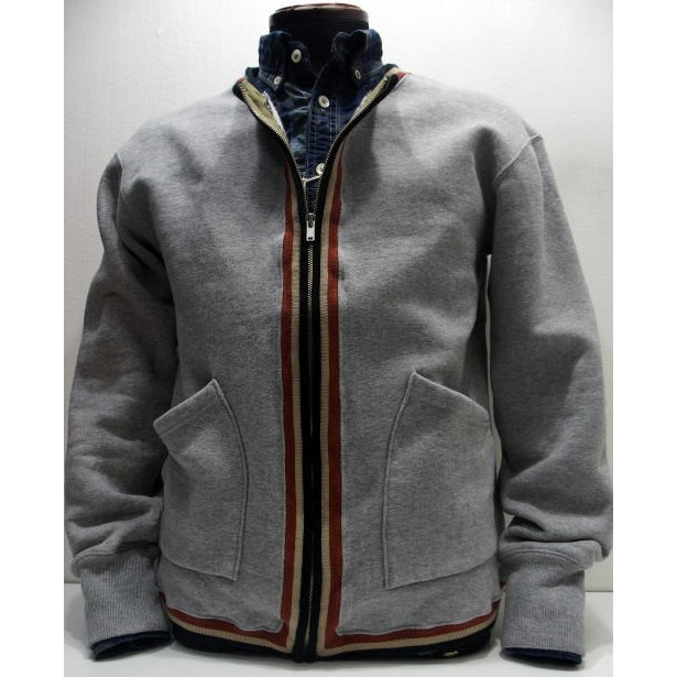 COLIMBO(コリンボ)[WINDHAM TRIMMED SWEAT SHIRT]スウェットシャツ グレー フルジップ 日本製