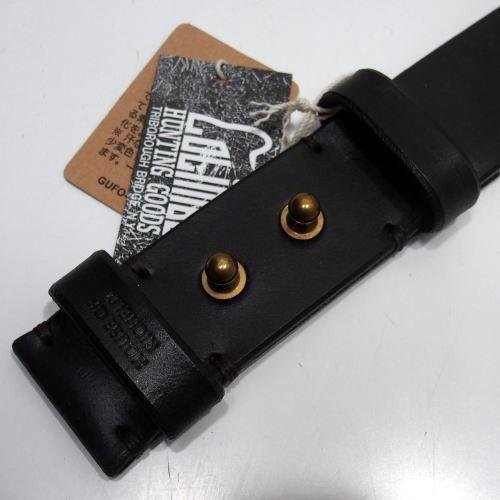 COLIMBO(コリンボ)[HAFKINGER SADDLE BELT/Buckle-Less]ベルト バックルレス カウハイド ベンズレザー ブラック 日本製!