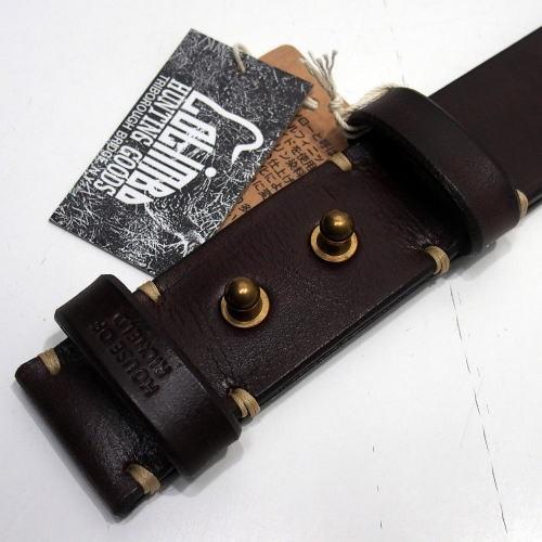 COLIMBO(コリンボ)[HAFKINGER SADDLE BELT/Buckle-Less]ベルト バックルレス カウハイド ベンズレザー ブラウン 日本製!