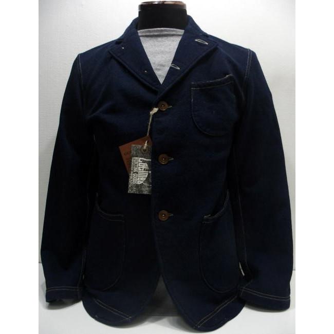 【最終の再入荷】COLIMBO(コリンボ)[BELMONT PARK JACKET]インディゴ染め スウェット テーラードジャケット サックコート 日本製!