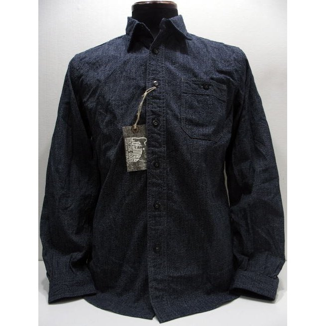 COLIMBO(コリンボ)[SANDLEAD WORK SHIRT/Heather Chambray]長袖シャツ ワークシャツ 杢シャン 無地 日本製!
