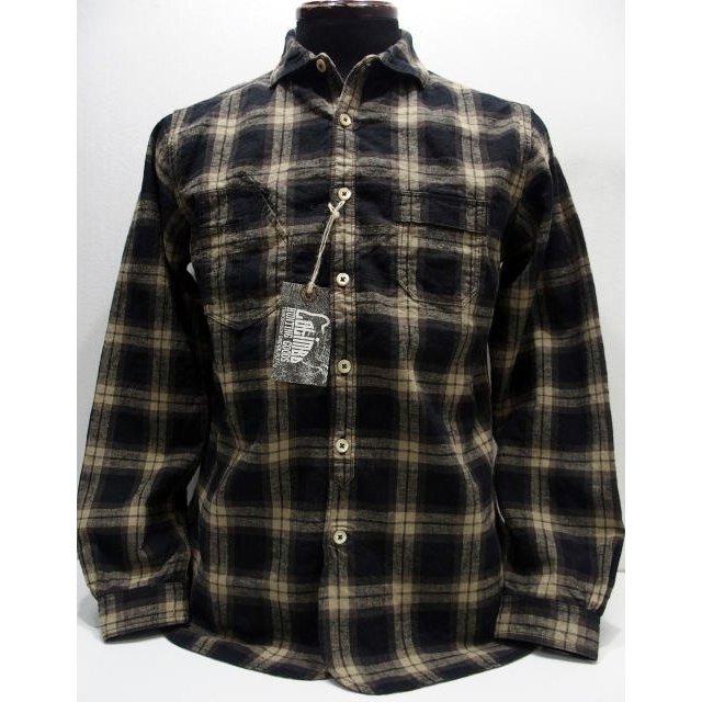 COLIMBO(コリンボ)[OLD WEDWORTH SHIRT/Brown Tartan]ワイドカラー イタリアンカラー タータンチェック 長袖シャツ