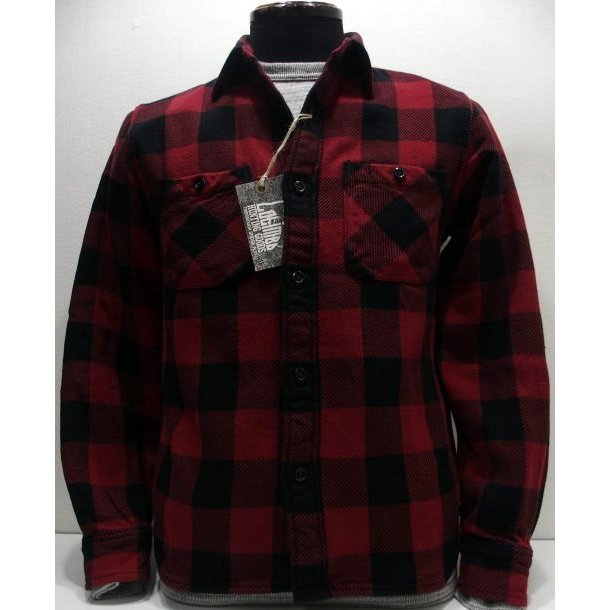 【2019秋冬 新作】COLIMBO(コリンボ)[Richmond-Boro Work Shirt/Flannel-Red]フランネル ネルシャツ チェック柄 長袖シャツ 日本製!