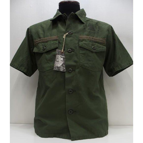 【2020盛夏 新作】COLIMBO(コリンボ)[Short Sleeve Utility Shirt/Custom]サービスシャツ ミリタリー 綿麻 カスタム 半袖シャツ ユーティリティーシャツ 日本製