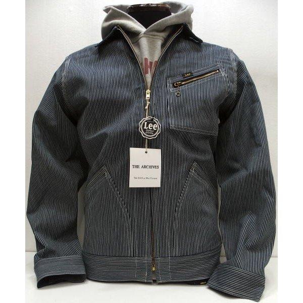 日本製 限定生産モデル ヒッコリー 98-B JACKET/Hickory] SLIM Vintage Real スリムジャケット [50' ワークジャケット 再入荷】Lee(リー)Archive 98-B 【2020春夏