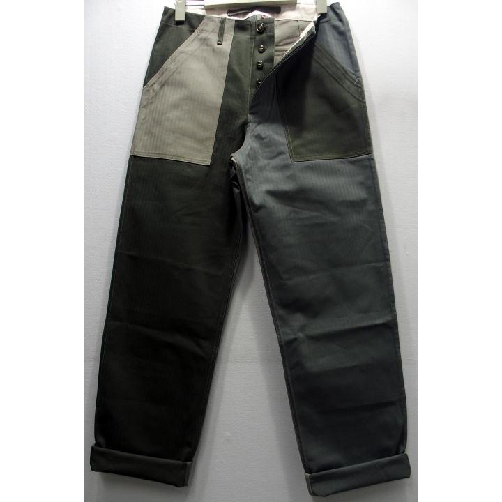 THOROUGHSTITCH(スルーステッチ)[HBT BAKER'S PANT]Made in U.S.A./New Yorkユーティリティトラウザー ベーカーパン ミリタリーパンツ クレイジーパターン ヘリンボーン アメリカ !