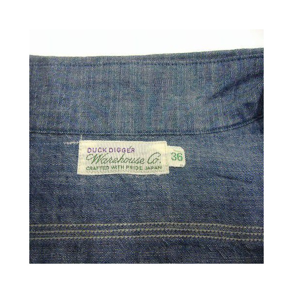 WAREHOUSE(服装房屋)Original Vintage Chambray Shirts[Lot.3052]shambureshatsu/工作/长袖子衬衫!]