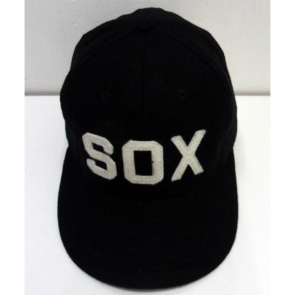 37db820b043aa EBBETS FIELD FLANNELS×WAREHOUSE  VINTAGE BASEBALL CAP BALTIMORE BLACK SOX  1923  Ebbets company baseball cap Hat  MADE IN USA     black socks!