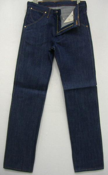 牧马人 (wrangler 牌) 真正的老式 57 模型 11 MWZ 粗斜纹棉布牛仔裤