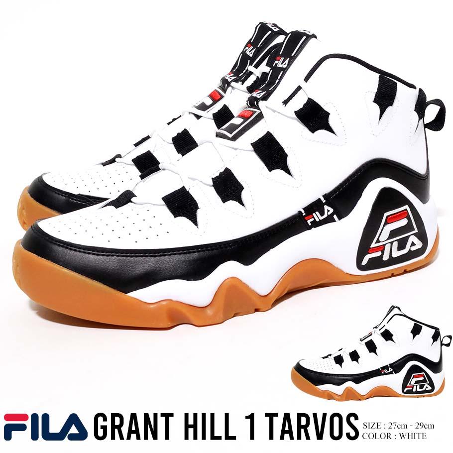 FILA フィラ スニーカー シューズ メンズ GRANT HILL 1 TARVOS グラントヒル 1 タルボス ハイカット バスケットシューズ ダッドシューズ ダッドスニーカー F0476-0113