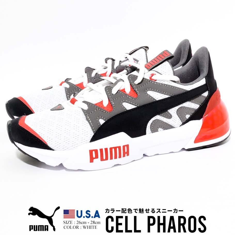 PUMA プーマ スニーカー ホワイト カジュアル シンプル ストリート ファッション シューズ CELL PHAROS 19363201