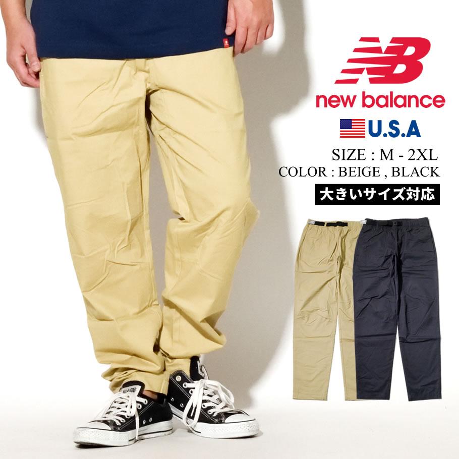 NEW BALANCE ニューバランス クロスパンツ ベルト ボトムス ロングパンツ シンプル ストリート ファッション メンズ スポーティ MP01504