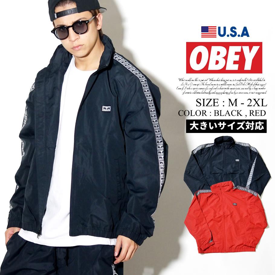 OBEY オベイ トラックジャケット メンズ サイドライン B系 ファッション メンズ ヒップホップ ストリート系 ファッション HIPHOP Eyes Jacket