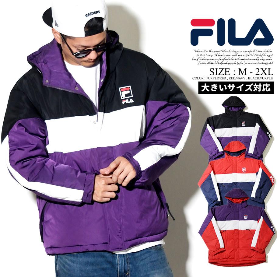 FILA 【フィラ】 ジャケット メンズ マウンテンパーカー 中綿ダウンジャケット ナイロン メンズ b系 ファッション ストリート系