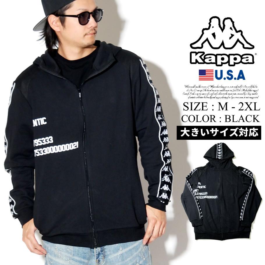 KAPPA カッパ パーカー メンズ ジップアップ トップス ロゴ BANDA B系 ファッション ヒップホップ ストリート系