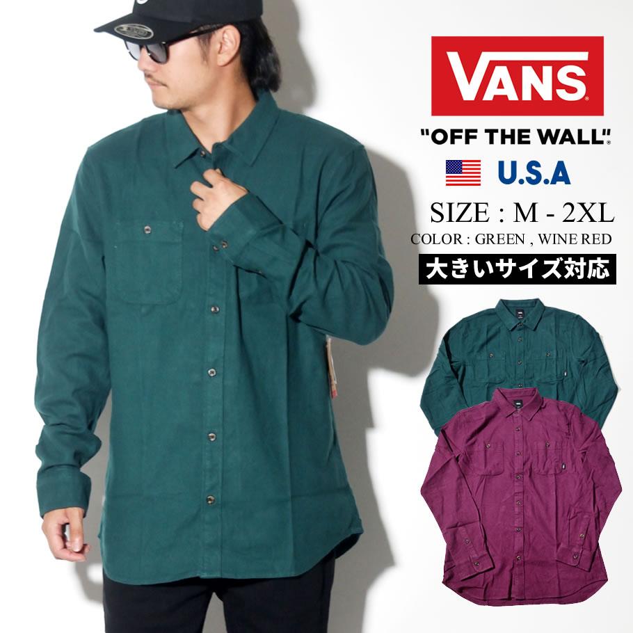 VANS バンズ 長袖シャツ ネルシャツ オープンシャツ メンズ B系 ファッション メンズ ヒップホップ ストリート系 ファッション HIPHOP