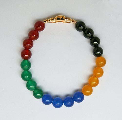 5色のダイヤ入り絆ブレスレット3L4ARcjqS5
