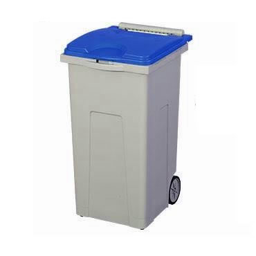 【代引不可】三甲 サンコー サンクリーンボックス SCB-Pシリーズ 4輪キャスター付きごみ箱 SCB90P フタ:ブルー 611010-01