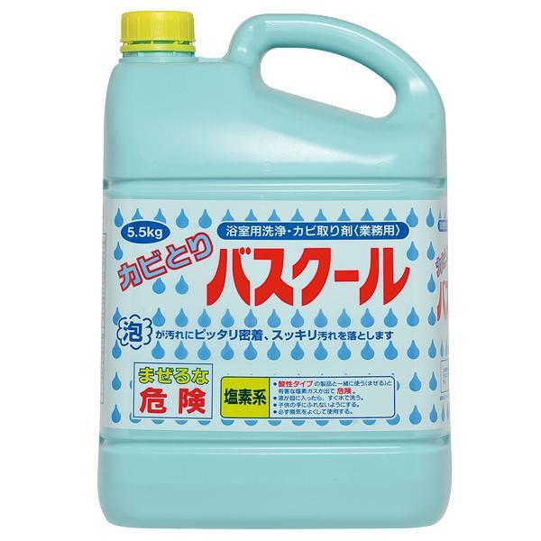 【代引不可】業務用 浴室用洗浄・カビ取り剤 カビとりバスクール 5.5kg 3本セット 234035