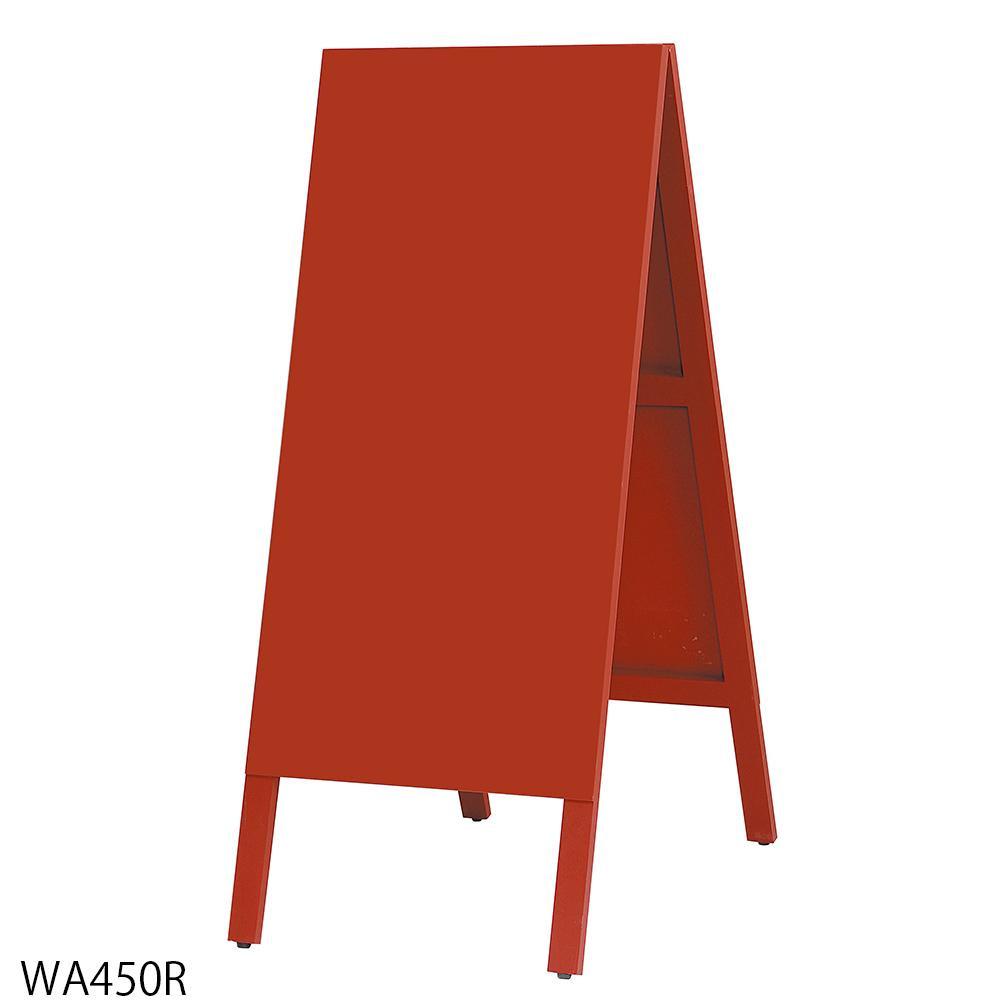 【代引不可】馬印 木製A型案内板 赤いこくばん WA450R