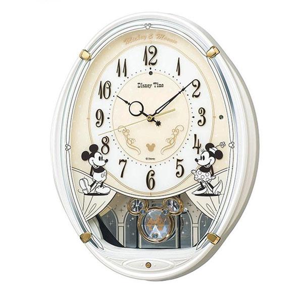 セイコークロック キャラクタークロック 電波クロック ディズニー ミッキー&フレンズ掛時計 FW579W