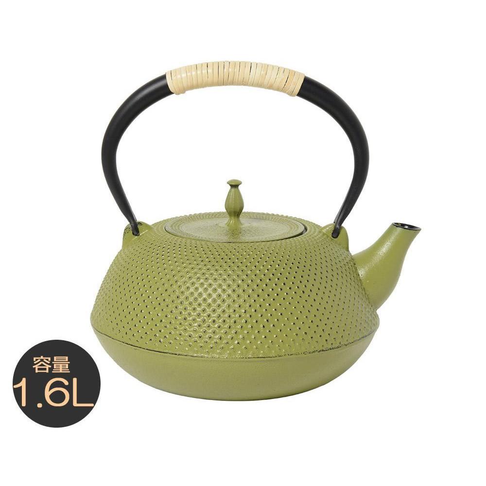 南部鉄器 IRONCRAFT IH対応鉄瓶 膳 抹茶(小) 1.6L MT-202